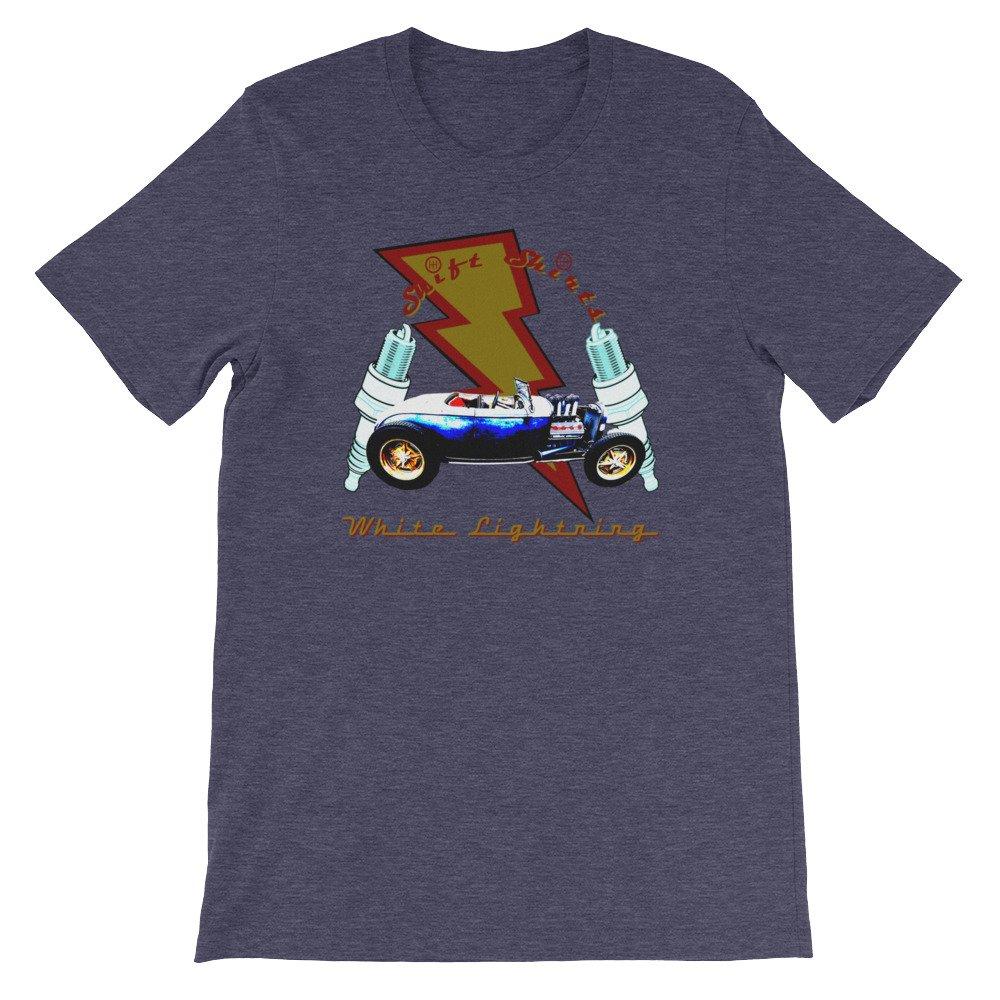 Ford Model A Hot Rod Inspired Unisex T-Shirt Shift Shirts White Lightning