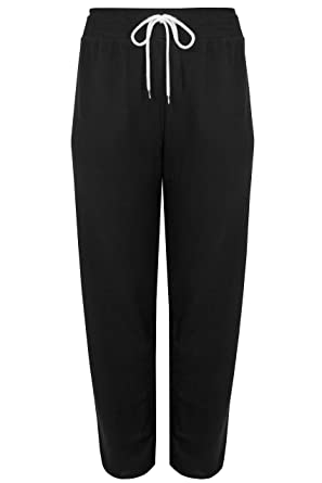 56ebc8f9f0 Yours Clothing Women's Plus Size Black Joggers with Drawstring Waist