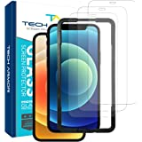"Tech Armor Ballistic Glass Screen Protector for Apple NEW iPhone 12 (6.1"") and iPhone 12 Pro (6.1"") - Case-Friendly…"