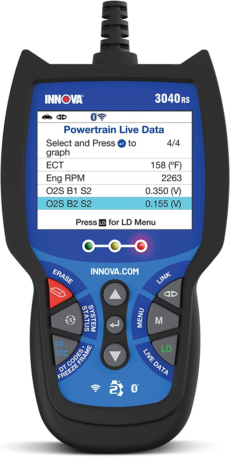 INNOVA 3040RS OBD2 Scanner/Car Code Reader with ABS, Battery Testing, and Live Data
