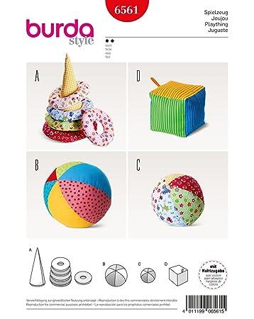 Burda 6561 Schnittmuster Spielzeug mit Kegel, Ringen, Ball und ...