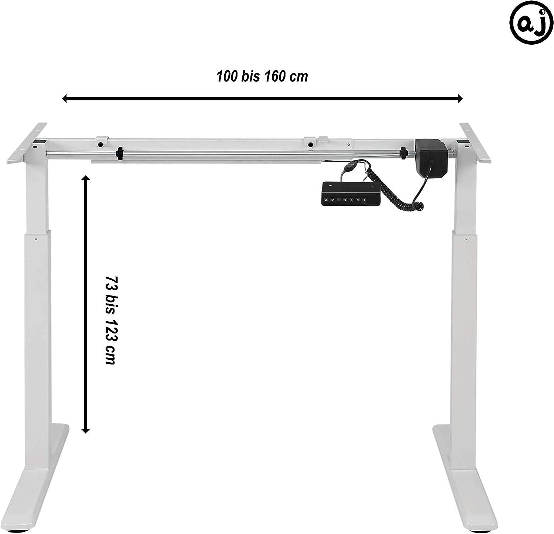 h/öhenverstellbares Tischgestell Grau ApeJoy/® elektrisch stufenlos h/öhenverstellbarer Schreibtisch einstellbaren Kollisionsschutz und Soft-Start//Stop Standing Desk mit Memory-Funkt