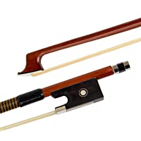 Kmise Violin Bow 4/4 Fiddle Octagonal Brazil Wood Stick Horse Hair Ebony Frog for Beginner Practice