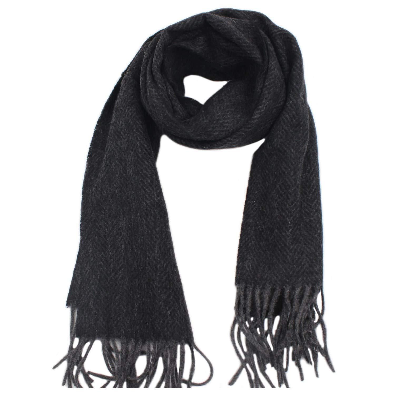 MESHIKAIER 100/% Cachemire Lana Uomo Sciarpa Classico Inverno Caldo Sciarpa Casual Morbido Sciarpa Lussuoso Sciarpa 185x32cm