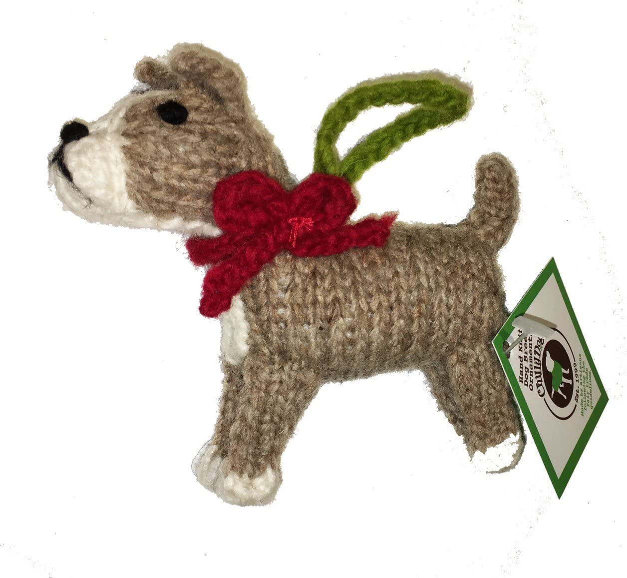 Chilly Dog Hand Knit Wool Chocolate Lab Ornament