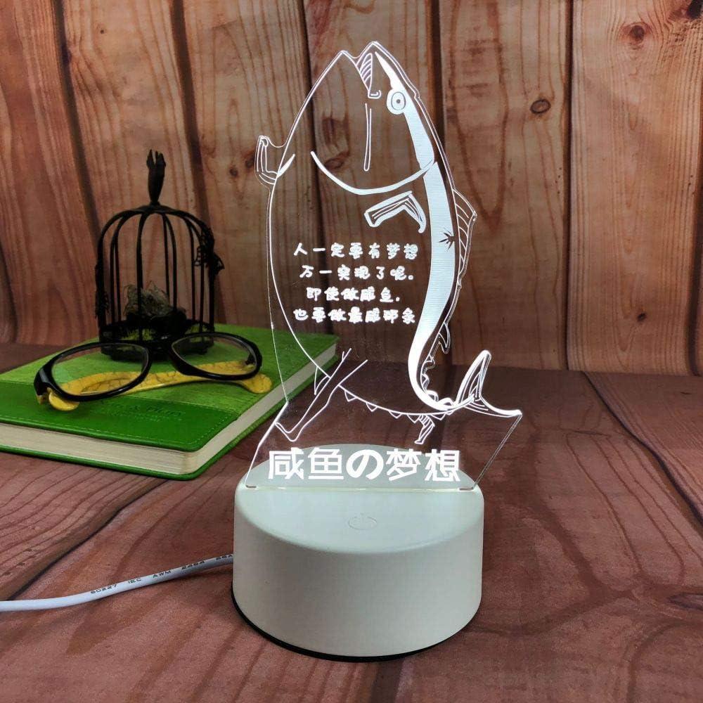 Lámpara de Mesa Creativa LED Moderna luz de Noche Minimalista lámpara de Modelado en Forma de corazón niña Sal Pescado sueño 3