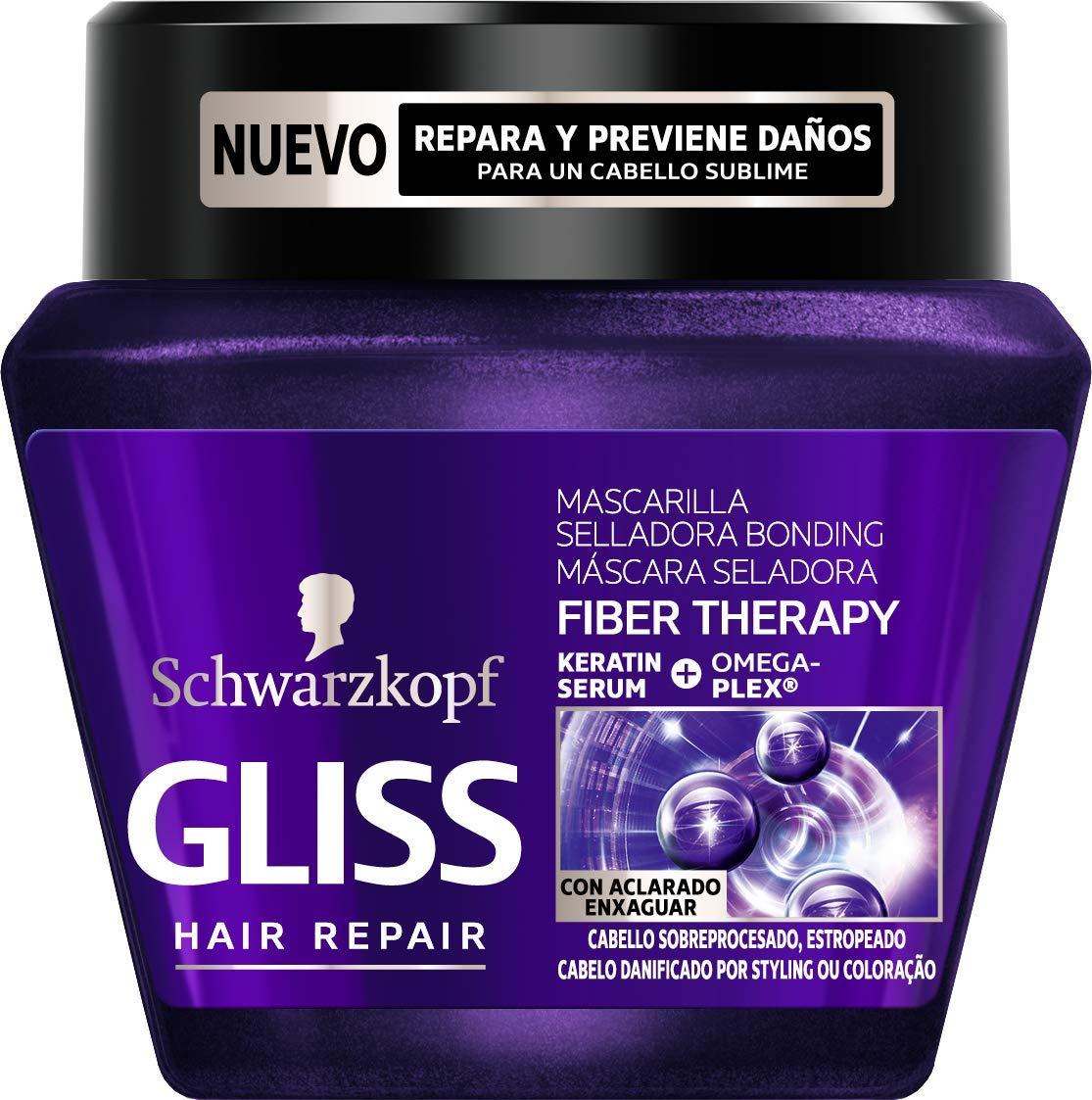 Gliss - Mascarilla Fiber Therapy para cabello sobreprocesado ...