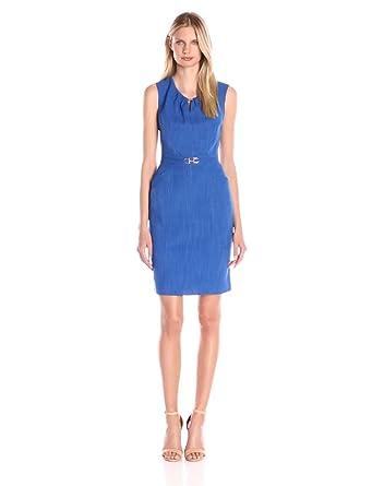 9617b092 Amazon.com: ELLEN TRACY Women's Cap-Sleeve Keyhole Sheath Dress ...