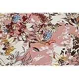 Tessuto al metro: Raso rosa antico a fiori