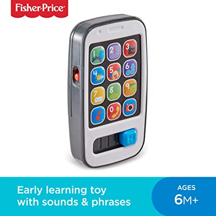 Fisher,Price 900 BHC01 Smart Phone Laugh and Learn Electronic Speaking Kids  Role Play Toy Phone Suitable for 6 Months Plus