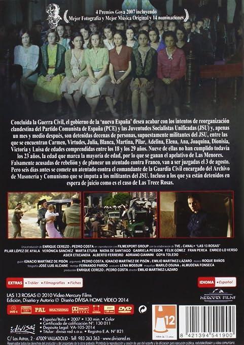 Las 13 rosas [DVD]: Amazon.es: Pilar López de Ayala, Verónica ...