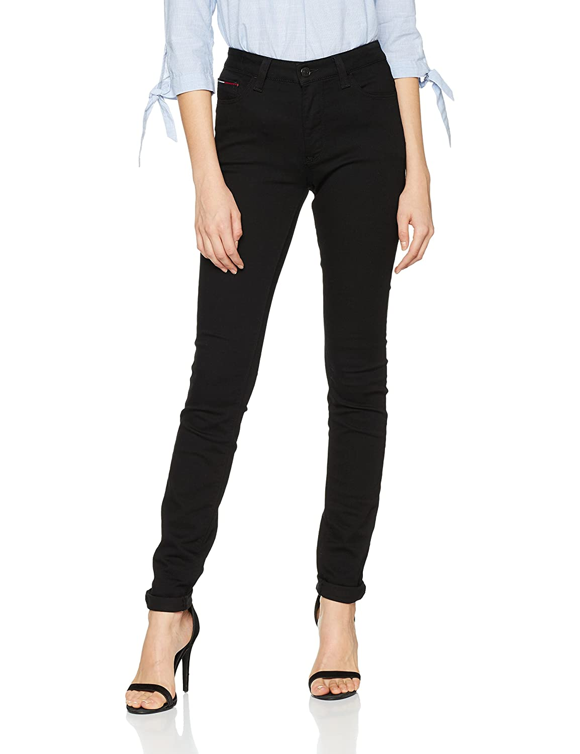 fd89b8e4c Tommy Jeans Women's High Rise Skinny Santana Dnbst: Amazon.co.uk: Clothing