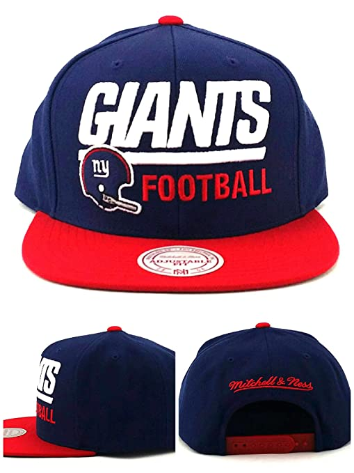 a431516d12a Amazon.com   Mitchell   Ness New York Giants New Retro Blocker Blue Red Era  Snapback Hat Cap   Sports   Outdoors