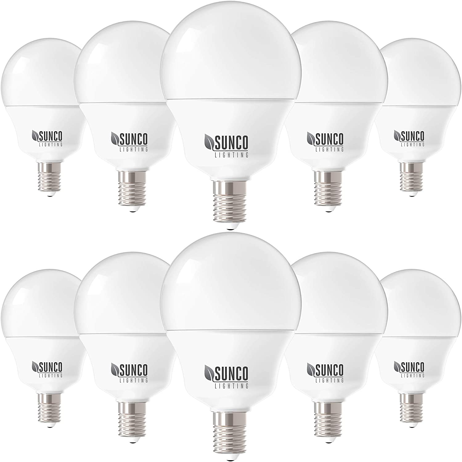 KIT 10 LAMPS LIGHT BULBS LED BULB G45 E14 7W = 50W GT-LUX HOT NATURAL COLD