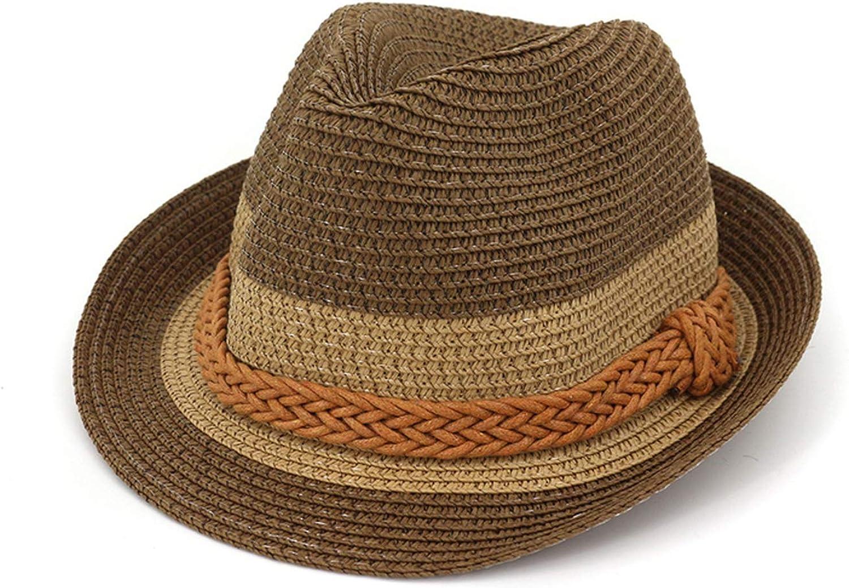 Zipok Summer Straw Hat for Men Women Children Hats with Weave Band Travel Beach Parent-Child Cap Sunhat