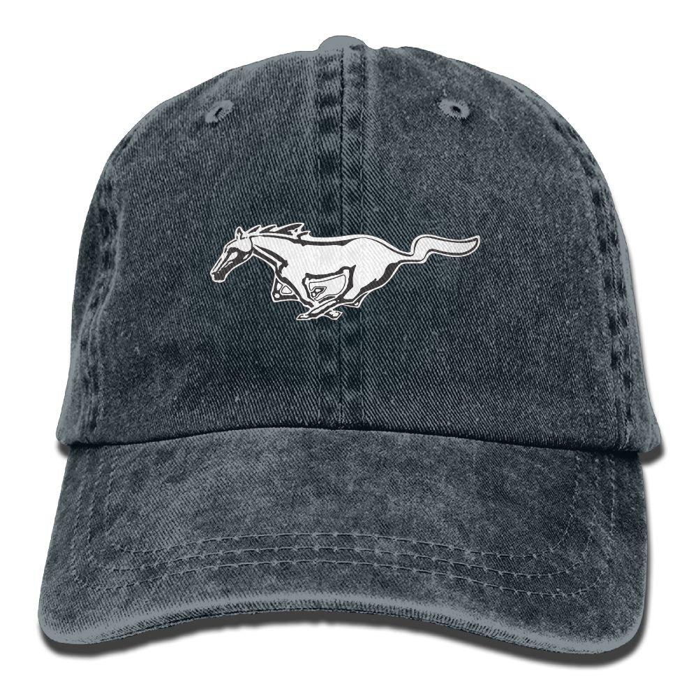 Unisex Mustang Car Baseball Cap Snapback Adult Cowboy Hat Hip Hop Trucker Hat