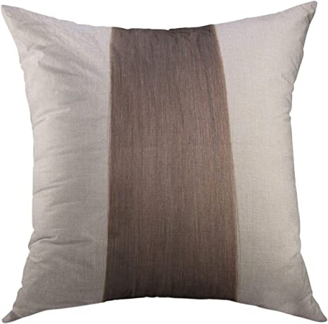 Amazon Com Mugod Pillow Cases Chocolate Straight Dark Brown Human Hair Extensions Silky Throw Pillow Cover For Men Women Youth Cushion Cover 20x20 Inch Home Kitchen