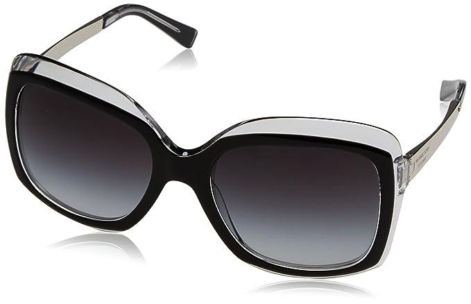 Michael Kors Key West, Gafas de Sol Unisex, Black Crystal 303311, 57