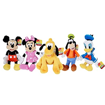 """Disney Gang 9"""" Bean Plush Mickey Minnie Mouse Donald Pluto Goofy - 5 Pack: Toys & Games"""