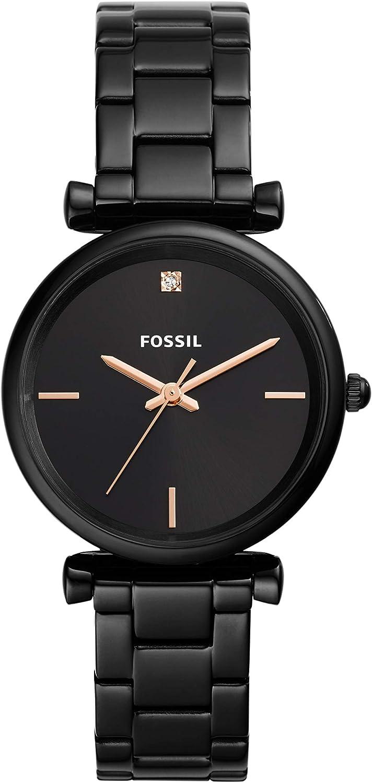 Fossil Reloj Analógico para Mujer de Cuarzo con Correa en Acero Inoxidable ES4442