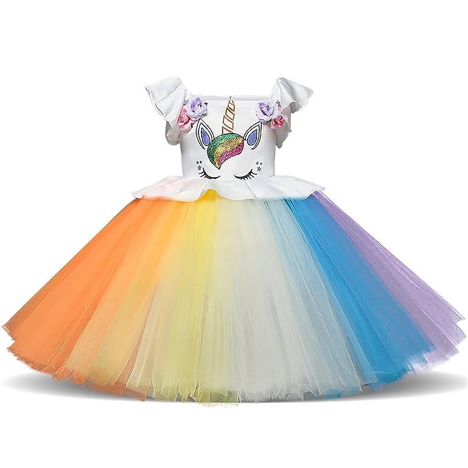 NNJXD, Chicas, Unicornio, Tulle, Arco Iris, Cumpleaños, Fiesta De Cosplay