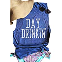 MK Shop Limited Women's Day Drinkin' Casual Tank Funny Letters Print Vest T-Shirt