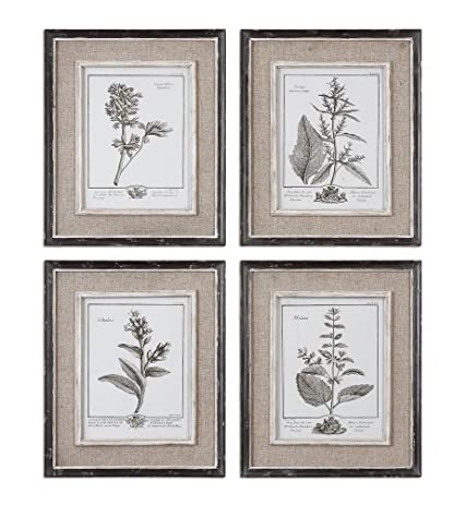 Casual Grey Study Framed Wall Art   Set Of 4   14W X 18H In.