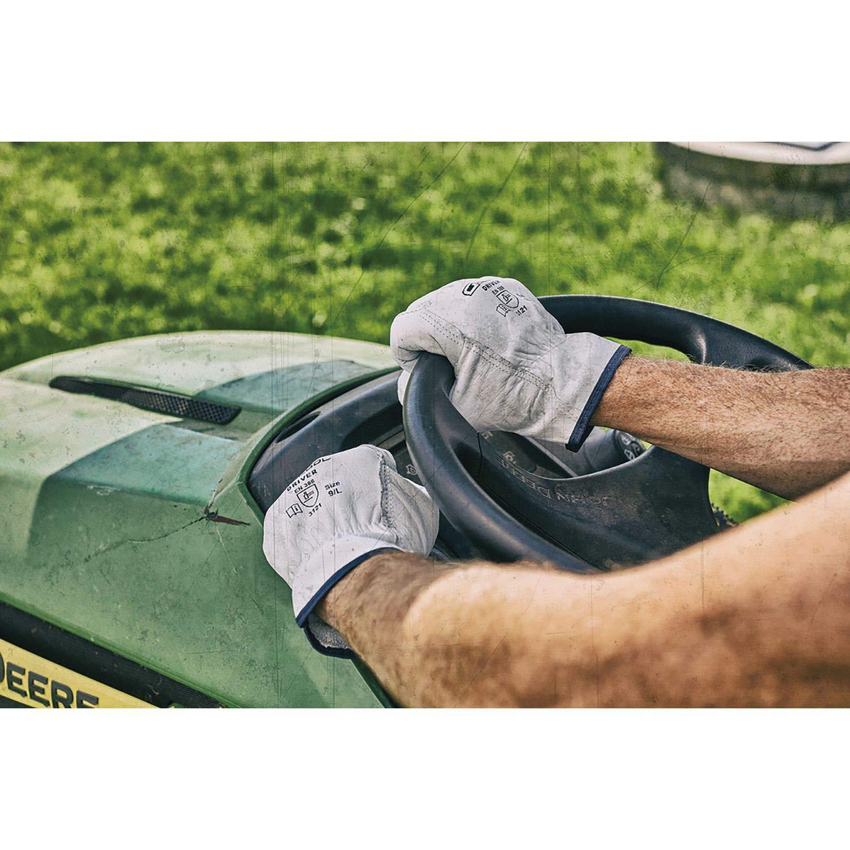 Baustellenhandschuh//Gartenhandschuh aus Rinder-Leder   wei/ß XL Arbeitshandschuh DRIVER Gr/ö/ße 10 1 Paar