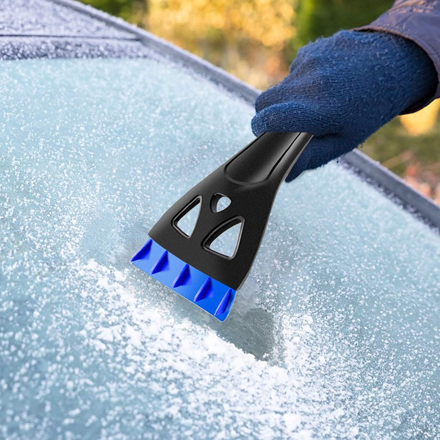 """AUPER 32/"""" Extendable Snow Brush and Detachable Ice Scraper 360/° Pivoting Head Snow Brush with Comfortable Soft Foam Grip for Car Truck SUV Blue"""