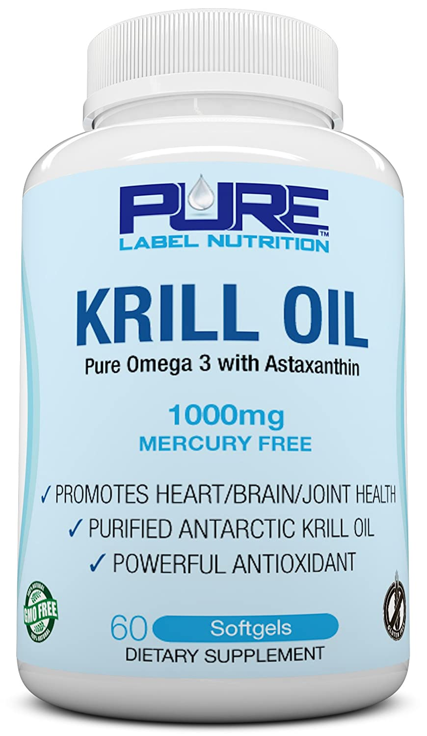 Krill oil 1000mg w astaxanthin pure k top rated 1 fish for Is krill oil the same as fish oil