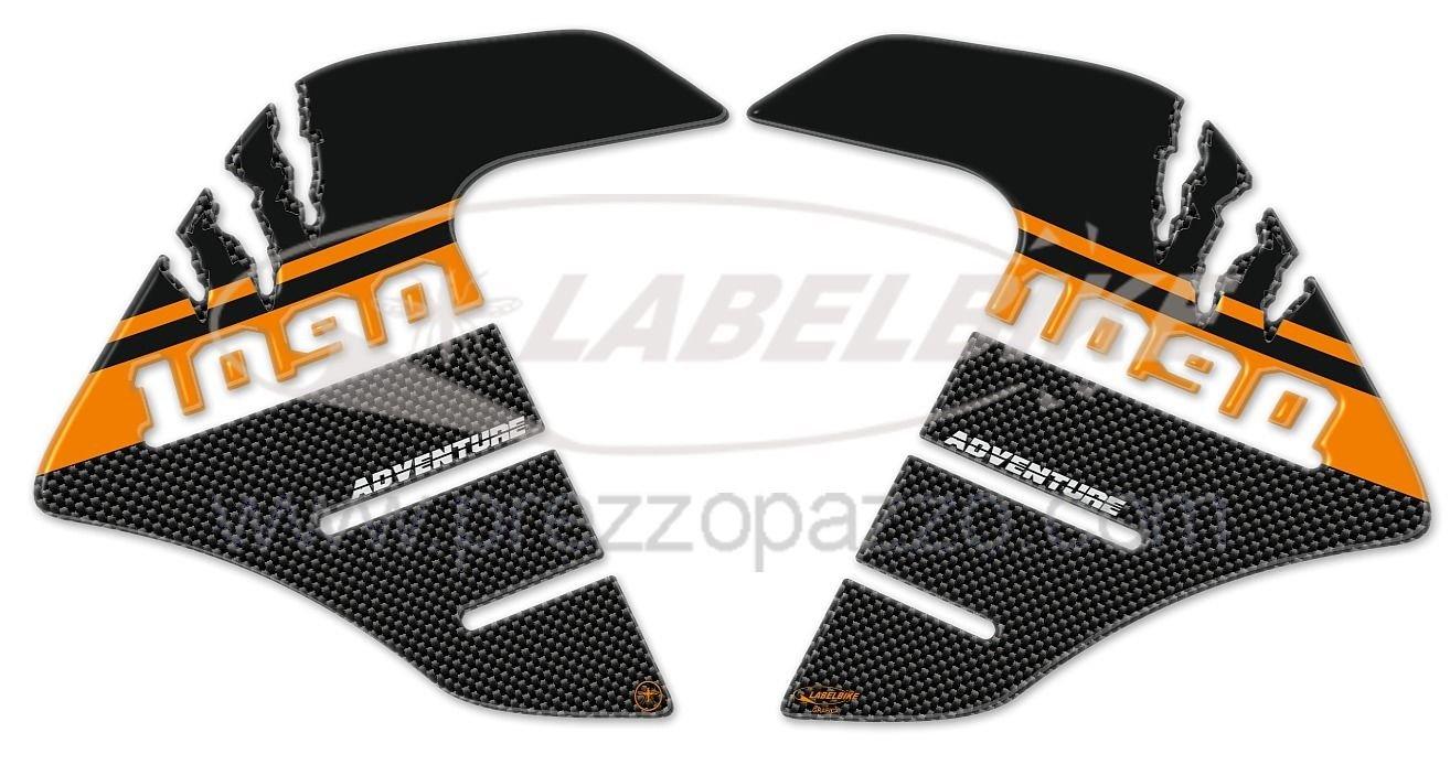2 adesivi 3D PROTEZIONI LATERALI SERBATOIO compatibile per MOTO KTM 1090 ADVENTURE