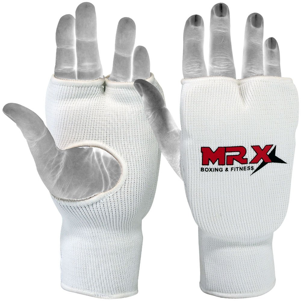 Elasticated Training Karate Mitt Fist Guards Protector (Pair)-CA Mrx Products