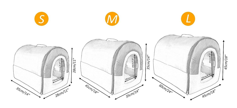 Amazon.com: anpi 2 en 1 Casa para mascotas y sofá, lavable a ...