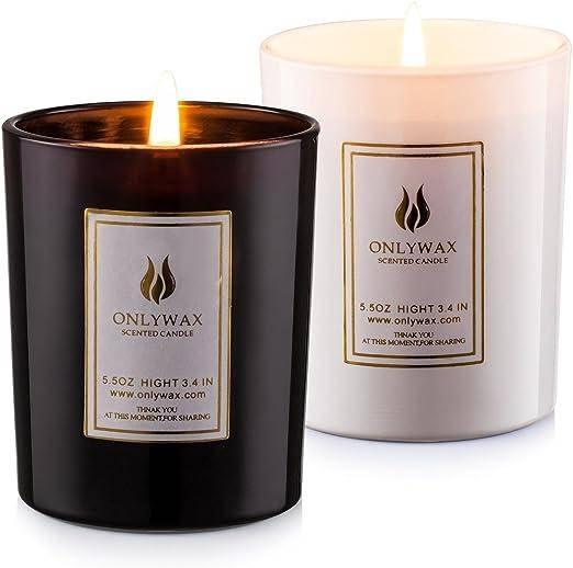 Amazon.com: Velas perfumadas lavanda y vainilla con aceites ...