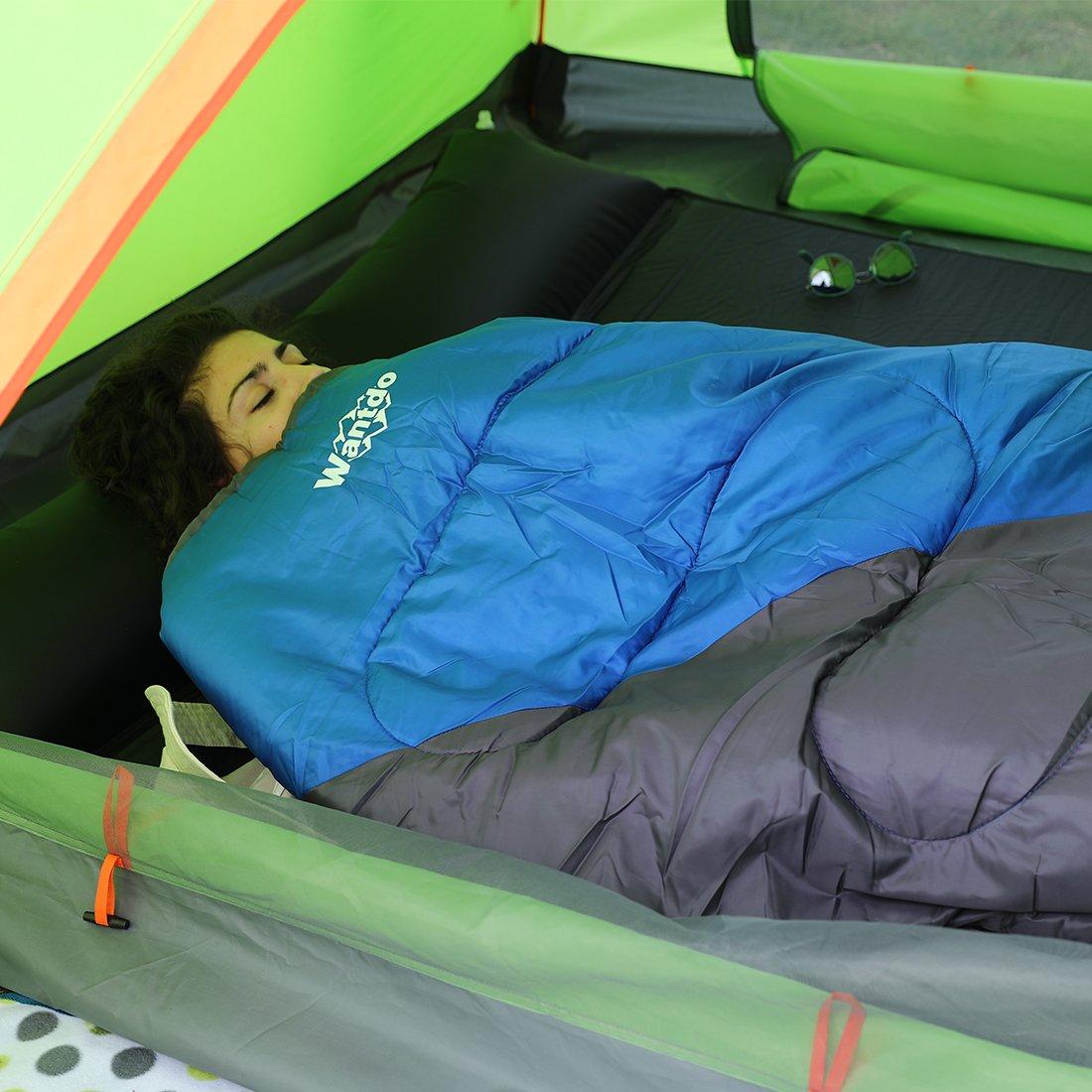 Ligero Wantdo Saco de dormir Interiores y Exteriores Impermeable Port/átil