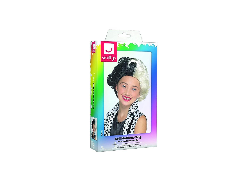 Amazon.com: Smiffys 48835 Evil Madame Wig, Girls, Black & White, One Size: Toys & Games