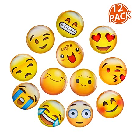 Lesfit Imanes Nevera Pizarra Magnetica Emoji, 12 Pieza Iman ...
