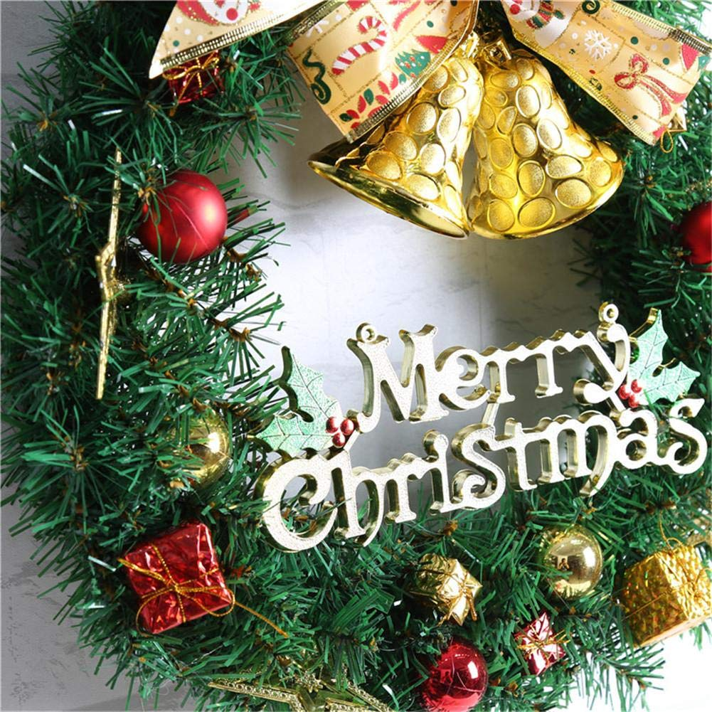 Ribbon Bell Christmas Wreath Artificial Wreath Decorative Wreath Home Window Shopping Mall Hotel Decoration Christmas Decoration by Topaty (Image #2)