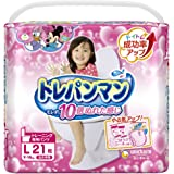 【パンツ Lサイズ】トレパンマン女の子 トイレトレーニング用 (9~14kg)21枚