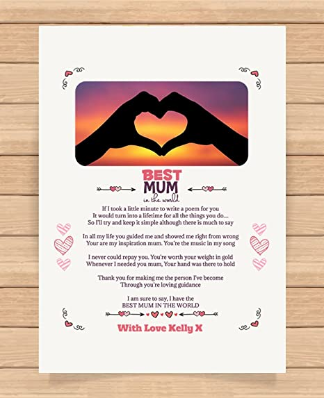 Personalised Presents Gifts For Mummy Mum Mother Birthday Mothers Day Christmas Xmas Worlds Best Heart