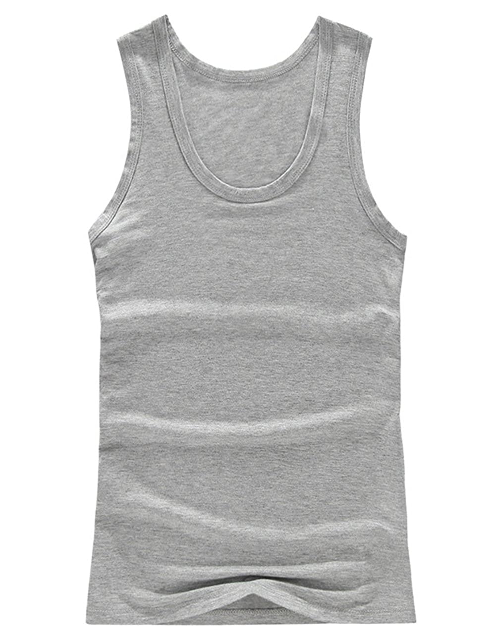 Yiwa Male Modal Vest Solid Color Sleeveless Top Leisure Breathable Home Clothes Festival Birthday Gift