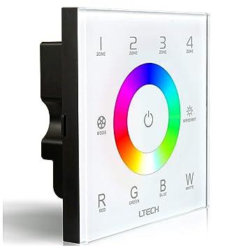 LTRGBW DX8 RGBW Wireless 2.4GHz DMX512 Konsole Master-Touch Panel RF ...
