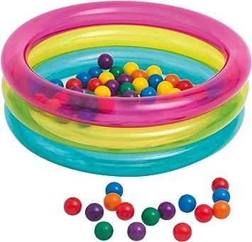 Intex 48674NP - Piscina de bolas hinchable con 50 bolas de colores: Amazon.es: Juguetes y juegos
