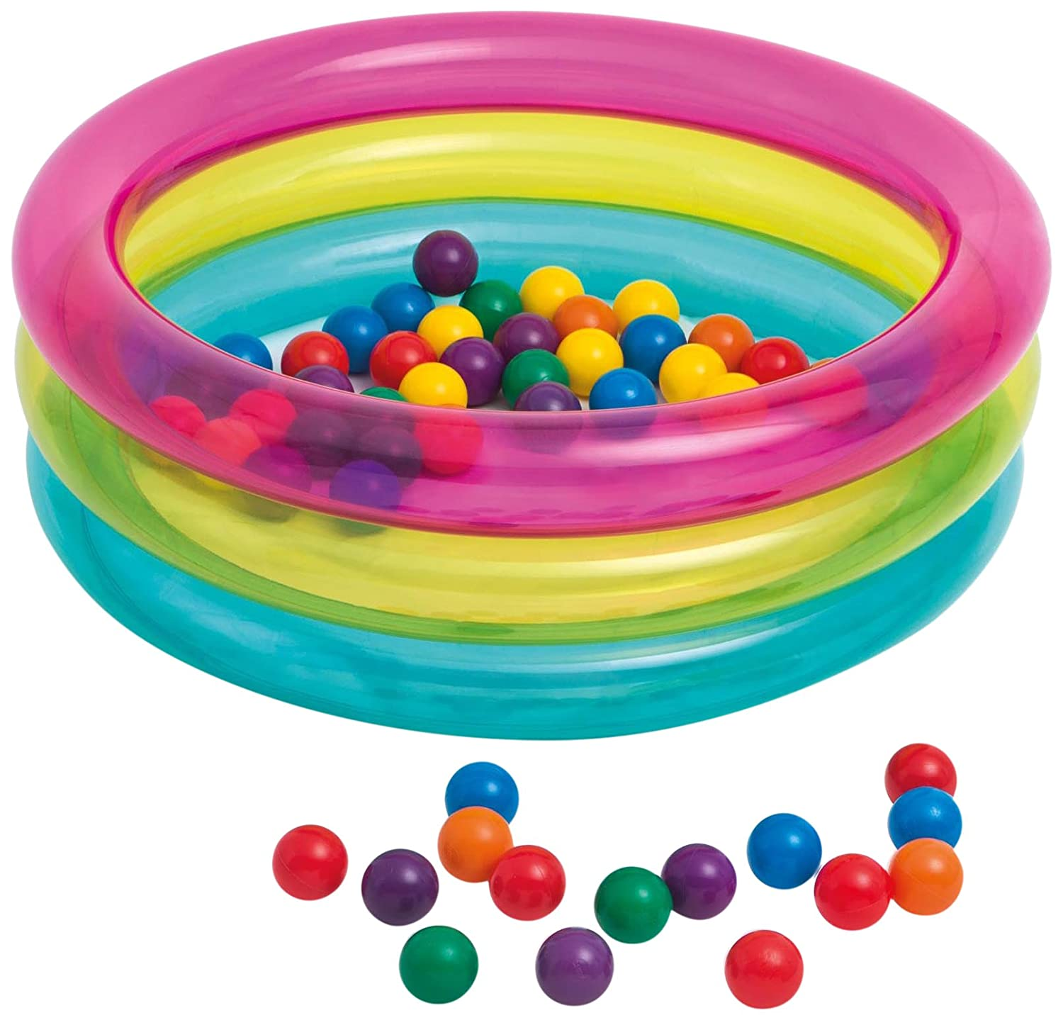 Intex 48674 - Piscina Baby 3 Anelli Palline Colorate, 86 x 25 cm Intex Amazon IT 48674NP