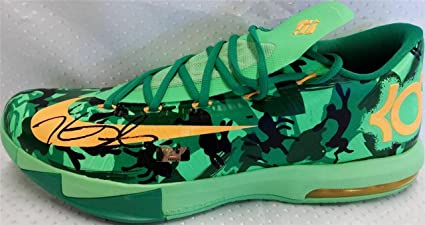e9c7f6374b1d ... italy kevin durant signed nike kd vi easter shoe panini authentic coa  panini certified autographed 1f781