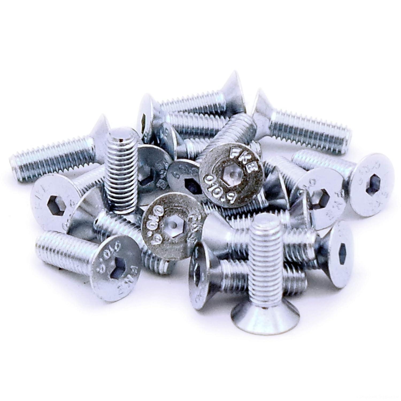 M5 (5 mm x 16 mm) Hex Socket cabeza avellanada tornillos tornillos – acero (Pack de 20) Singularity Supplies Ltd