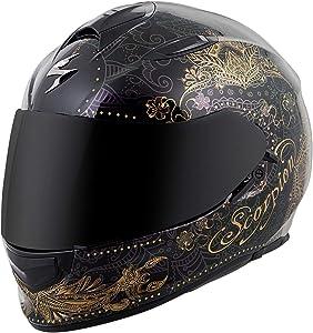 ScorpionExo EXO-T510 Unisex-Adult Full-Face-Style Azalea Helmet (White/Silver, Medium)