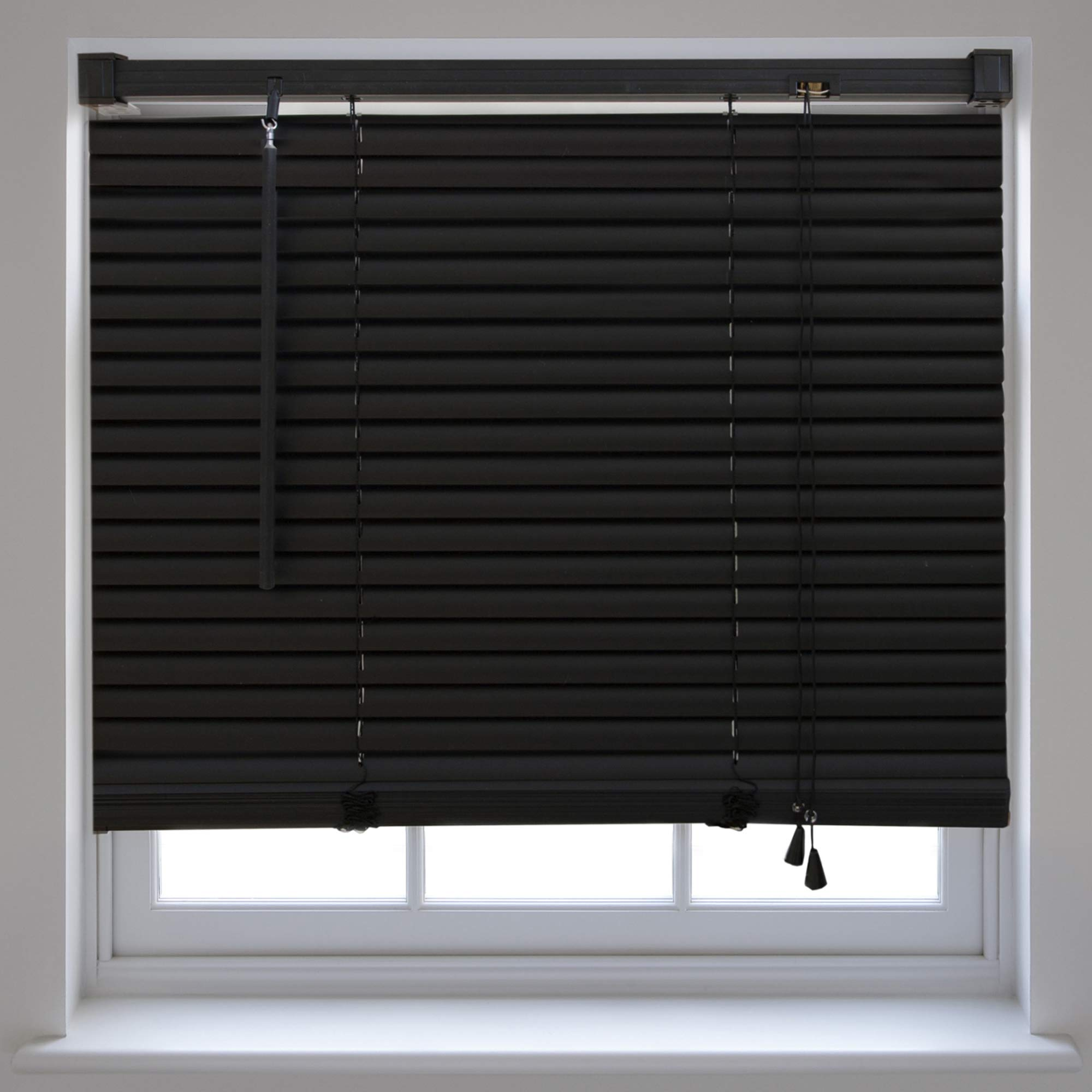 office window blinds. PVC Venetian Window Blinds Trimmable Home Office Blind New - Black 105cm X 210cm