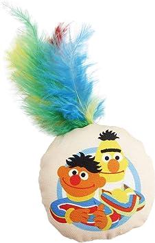Amazon Com Pet Krewe Sesame Street Bert And Ernie Cat Toy