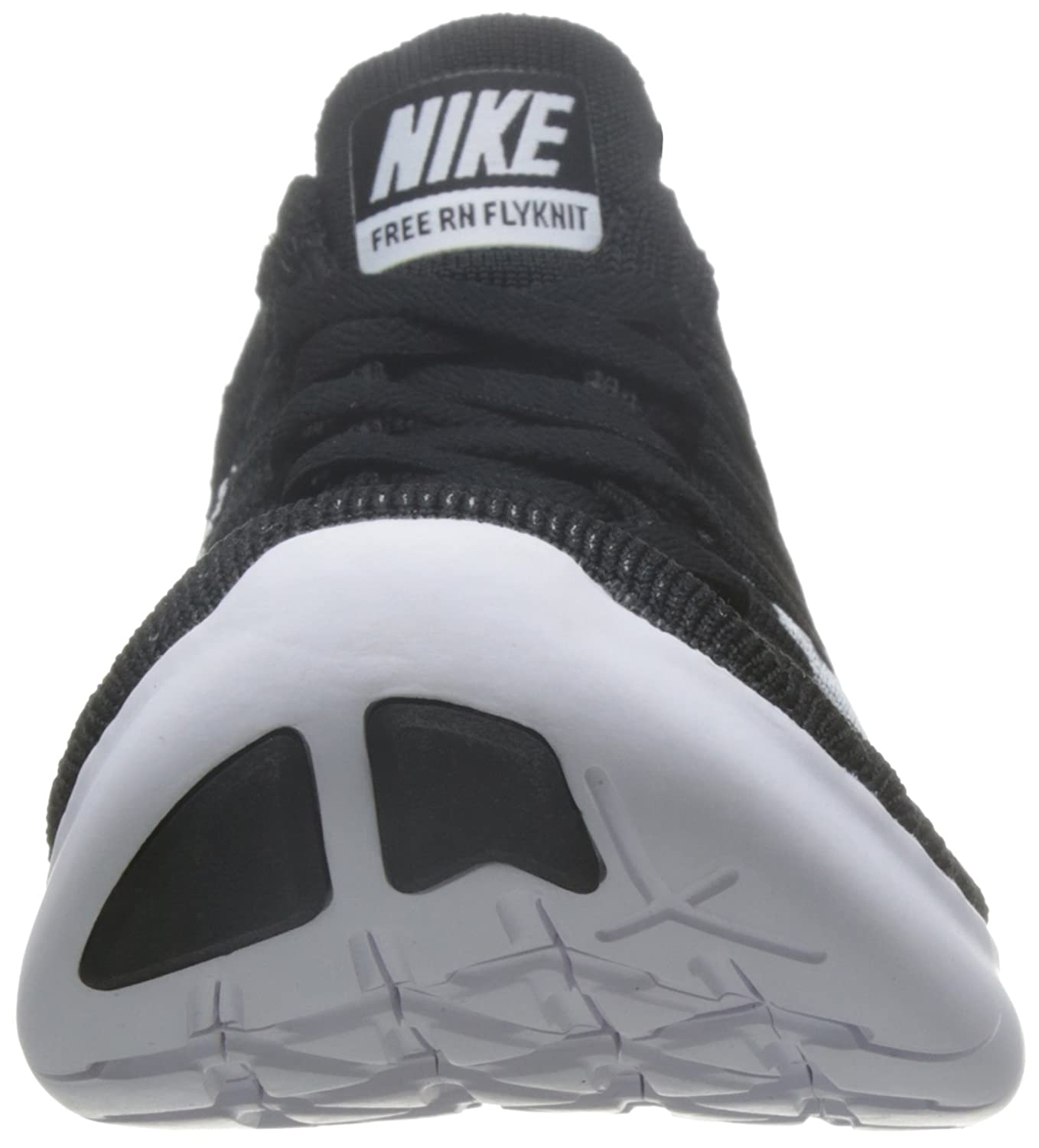 separation shoes 4a0a7 dc251 Amazon.com  Nike Free RN Flyknit Womens Black White Running Sneakers   Sports   Outdoors